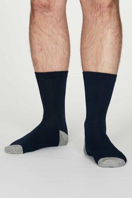 Thought pánské bambusové ponožky jack tm. modré