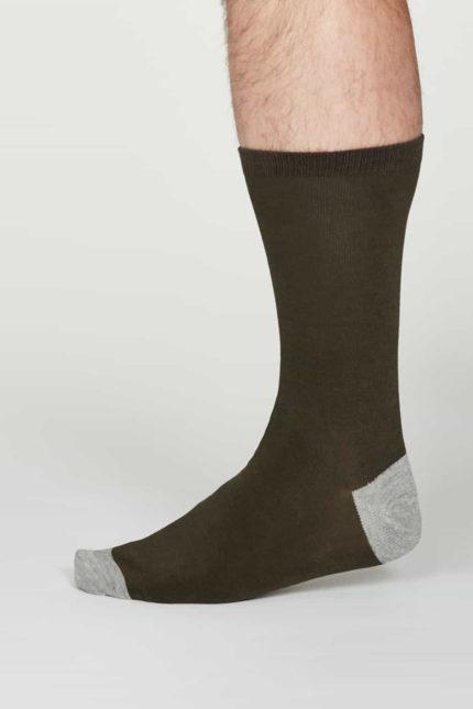 Thought pánské bambusové ponožky jack šedé