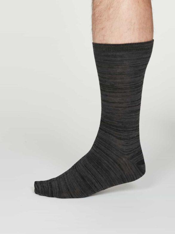Thought pánské bavlněné ponožky luther šedé