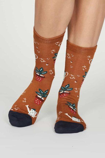 Thought dámské bambusové ponožky eden oranžové