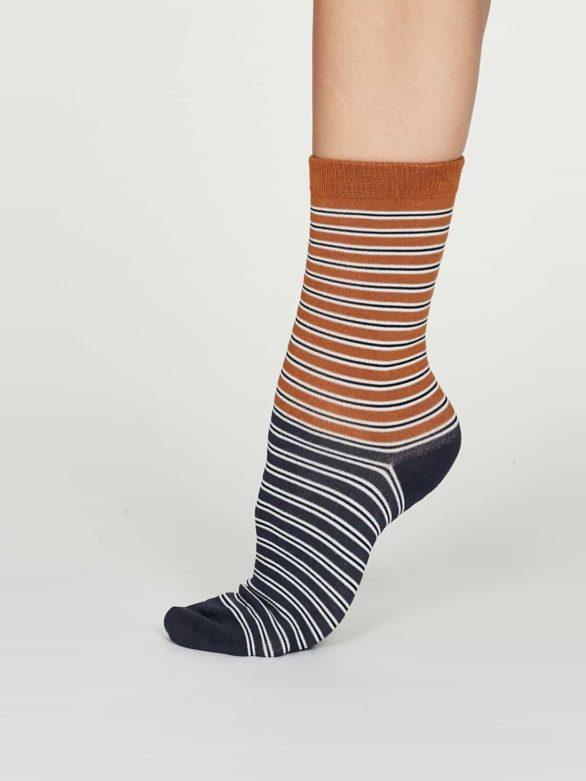 Thought dámské bambusové ponožky isabel oranžové