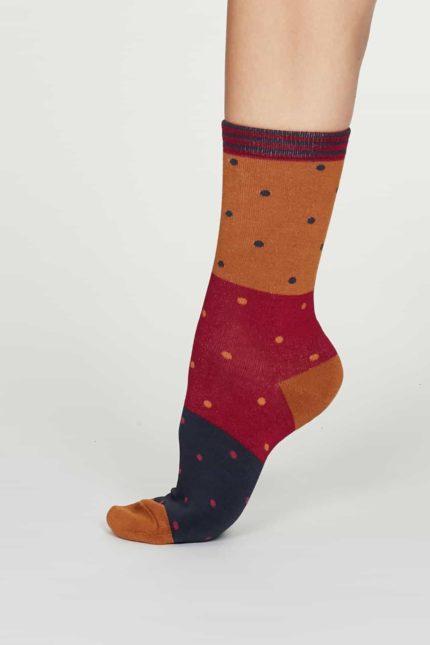 Thought dámské bambusové ponožky mercy oranžové