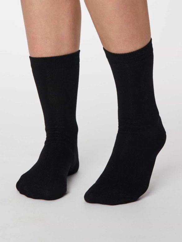Thought dámské bambusové ponožky jackie černé
