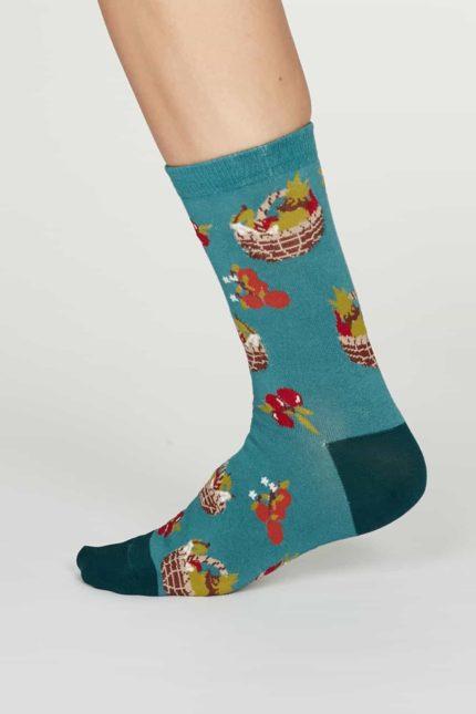 Thought dámské bambusové ponožky eden tyrkysové