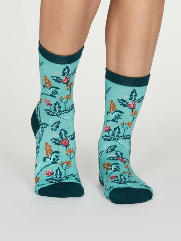 Thought dámské bambusové ponožky margery modré