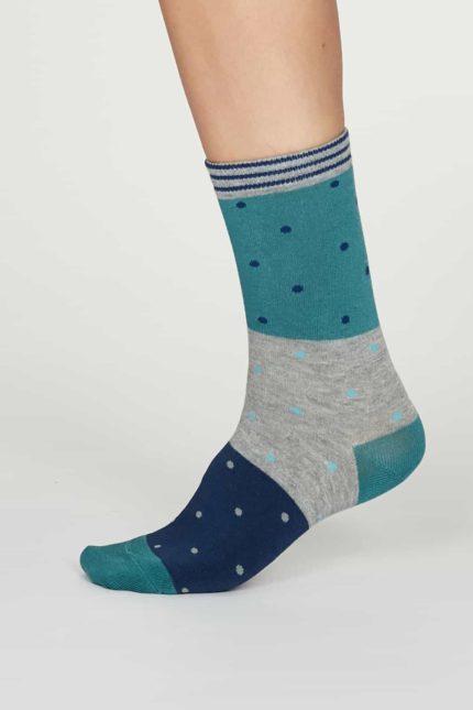Thought dámské bambusové ponožky mercy modré