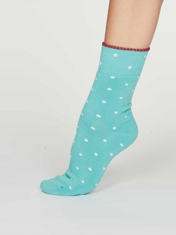 Thought dámské bambusové ponožky walker tyrkysové