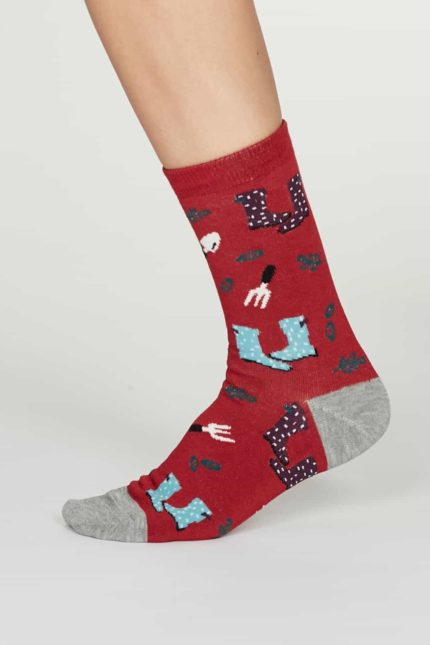 Thought dámské bambusové ponožky eden červené