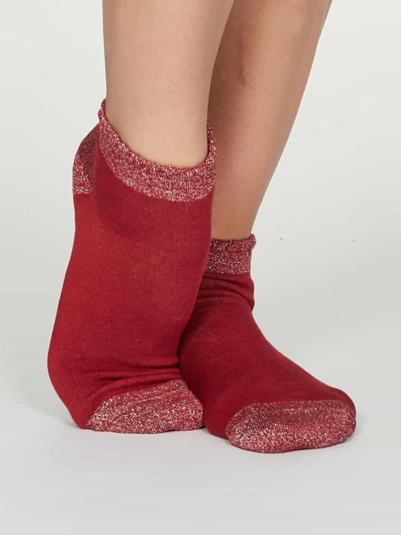 Thought dámské nízké ponožky glister červené