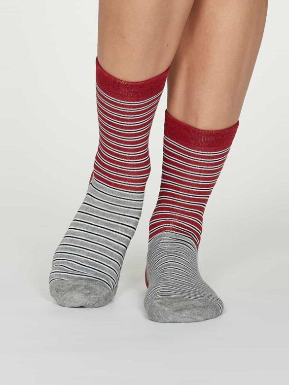 Thought dámské bambusové ponožky isabel červené
