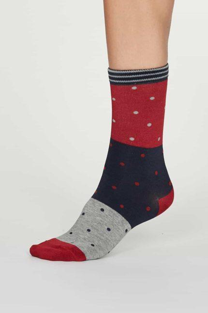 Thought dámské bambusové ponožky mercy červené