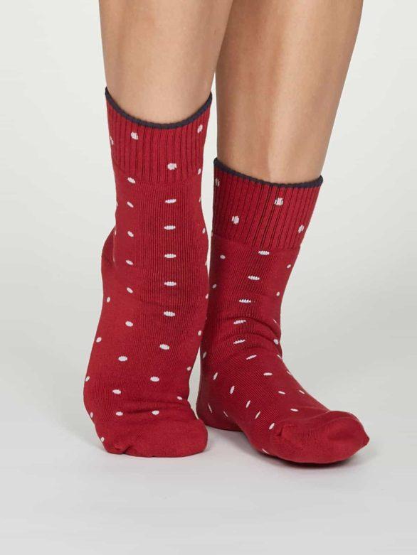 Thought dámské bambusové ponožky walker červené