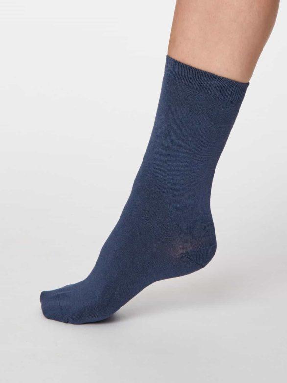 Thought dámské bambusové ponožky jackie modré