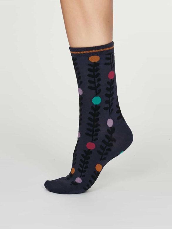 Thought dámské bambusové ponožky keira modré
