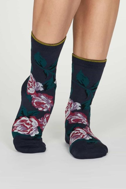 Thought dámské bambusové ponožky rosie modré