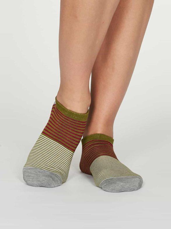 Thought dámské kotníkové ponožky agnes zelené