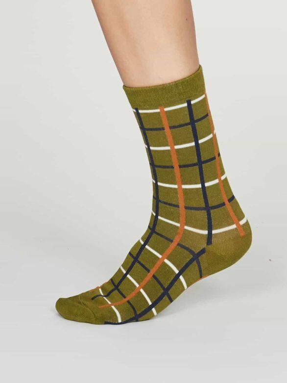 Thought dámské bambusové ponožky matilda zelené