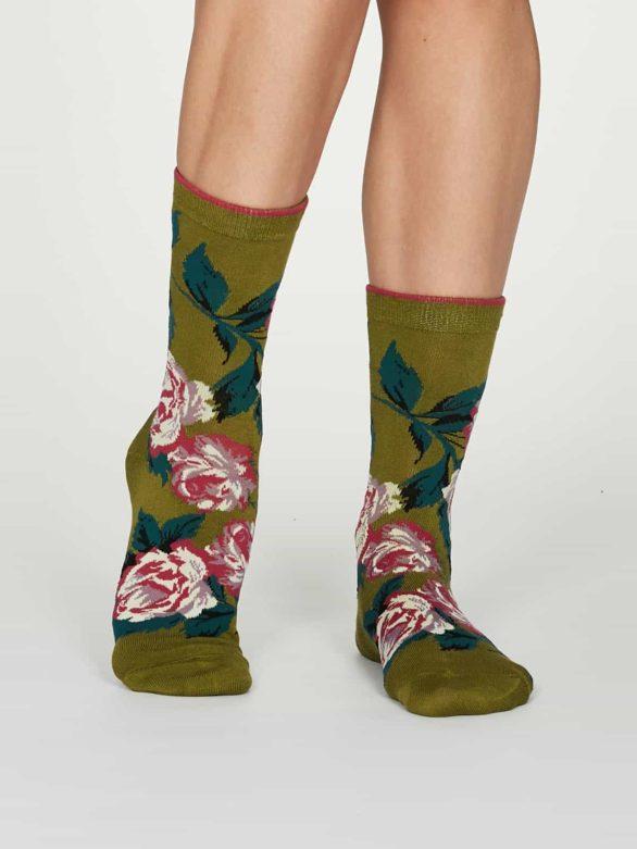 Thought dámské bambusové ponožky rosie zelené