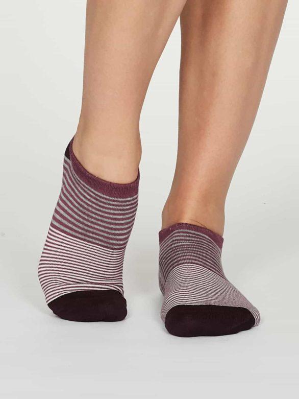 Thought dámské kotníkové ponožky agnes růžové