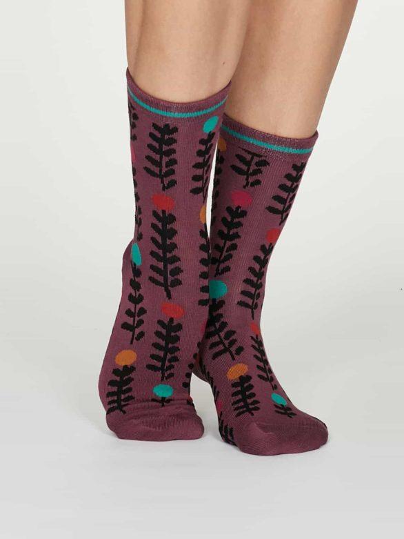 Thought dámské bambusové ponožky keira růžové