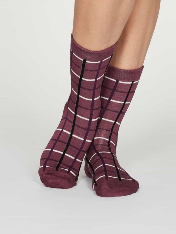 Thought dámské bambusové ponožky matilda růžové