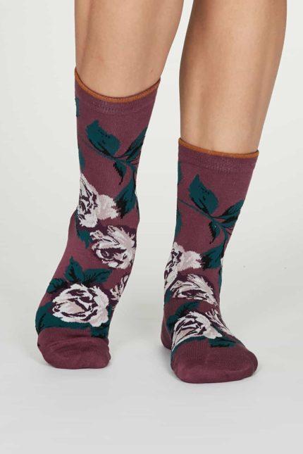 Thought dámské bambusové ponožky rosie růžové