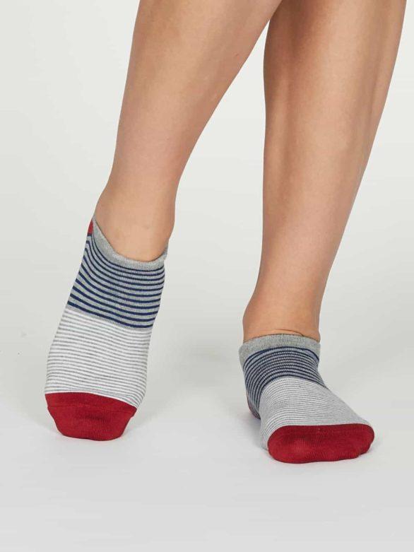 Thought dámské kotníkové ponožky agnes šedé