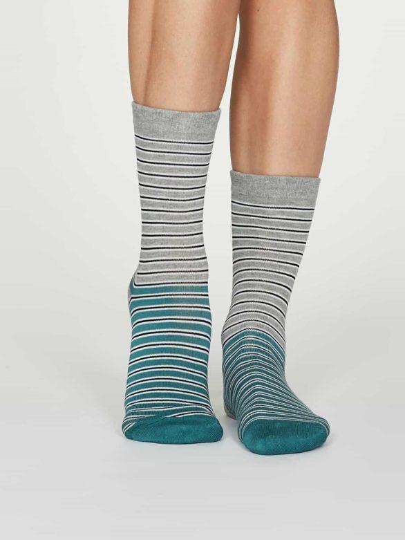 Thought dámské bambusové ponožky isabel šedé