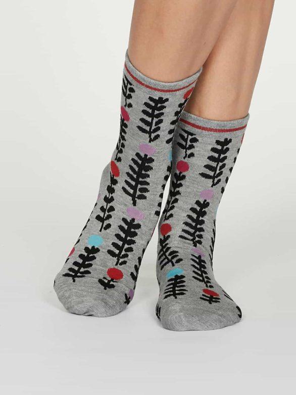 Thought dámské bambusové ponožky keira šedé