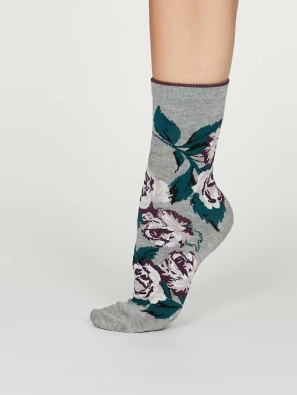 Thought dámské bambusové ponožky rosie šedé