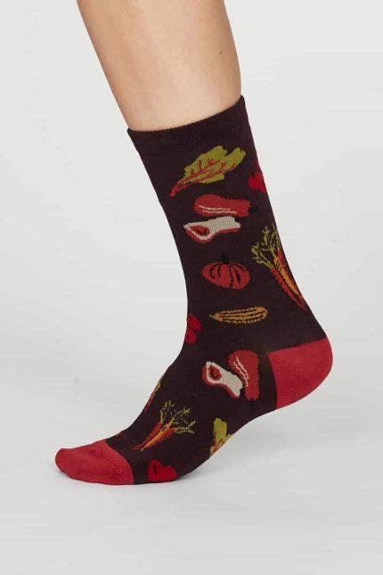 Thought dámské bambusové ponožky eden fialové