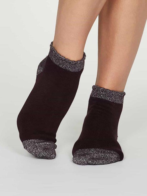 Thought dámské nízké ponožky glister fialové