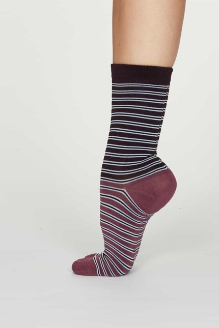 Thought dámské bambusové ponožky isabel fialové