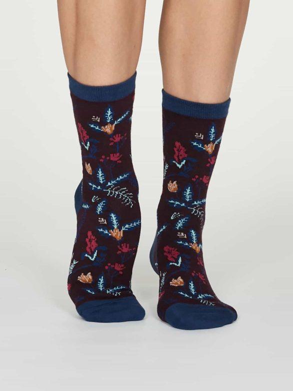 Thought dámské bambusové ponožky margery fialové