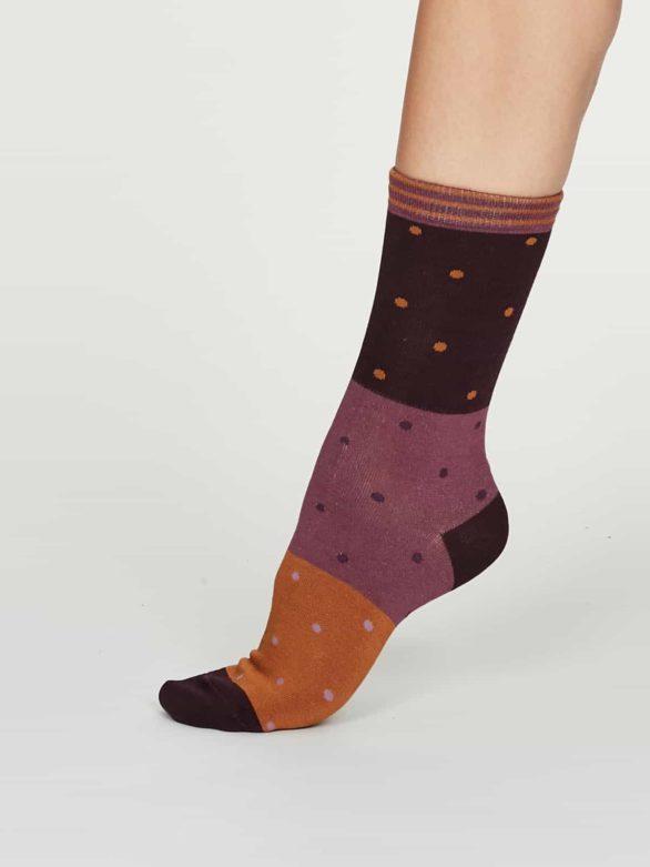 Thought dámské bambusové ponožky mercy fialové