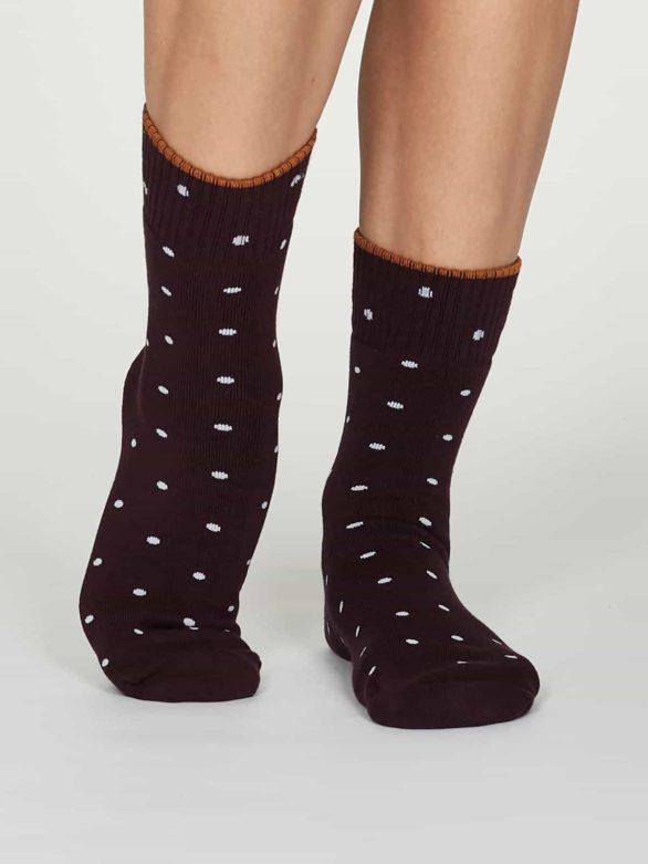 Thought dámské bambusové ponožky walker fialové
