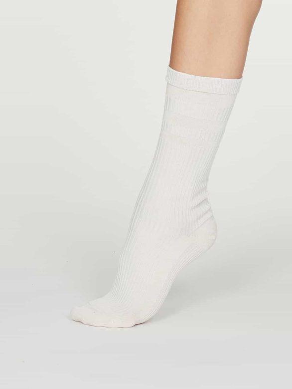Thought dámské diabetické ponožky beatrice bílé