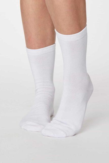 Thought dámské bambusové ponožky jackie bílé