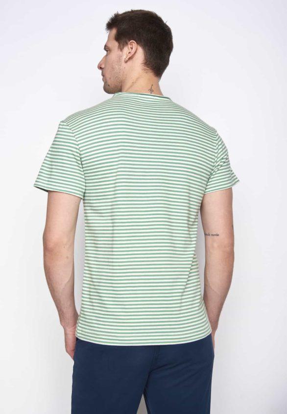 Greenbomb tričko open green stripes