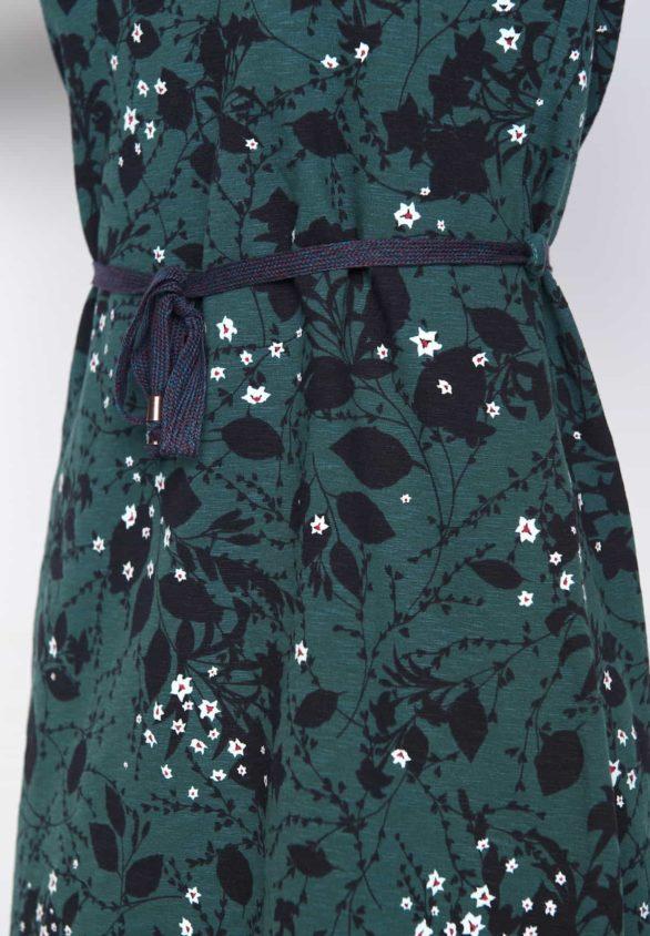 Greenbomb Šaty sound winter blue z bio bavlny