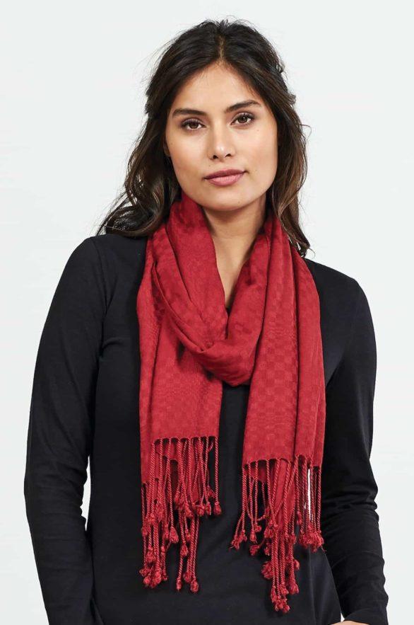 Nomads Šátek tassle claret