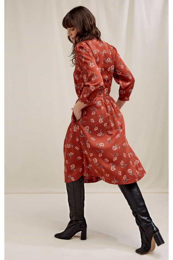 People Tree tencelové šaty becky floral