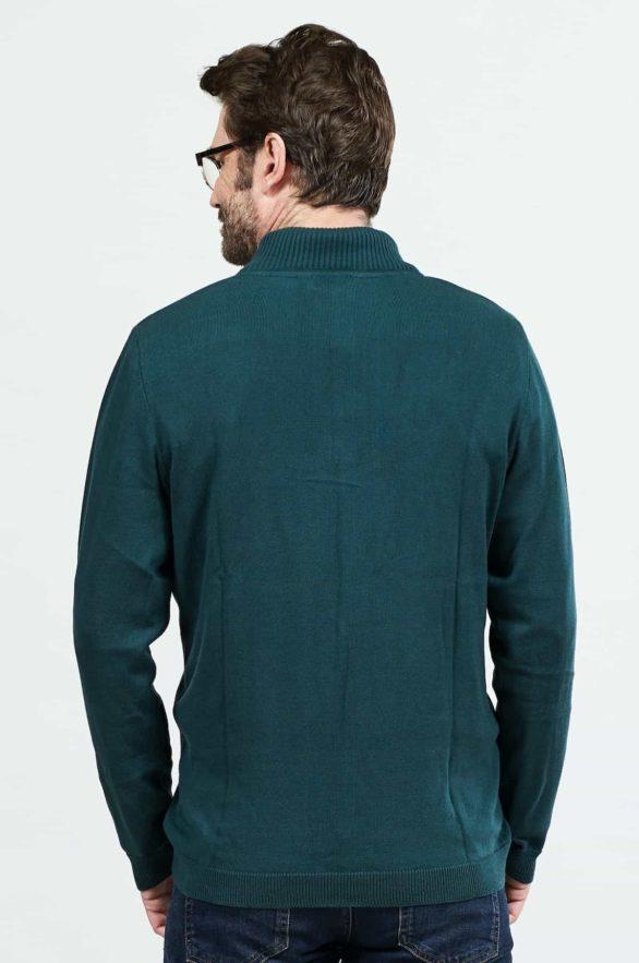 Nomads pánský svetr se zipem zelený