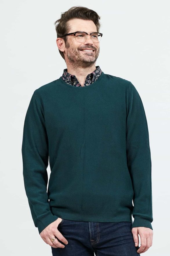 Nomads pánský svetr z bio bavlny zelený