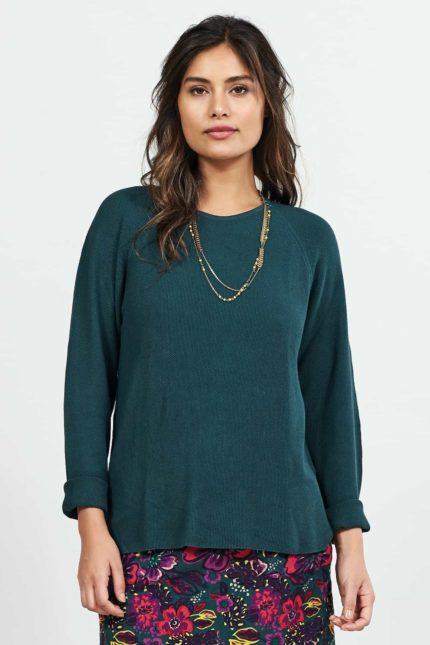 Nomads svetr s viskózou zelený
