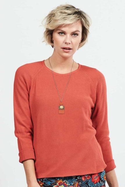 Nomads svetr s viskózou korálový