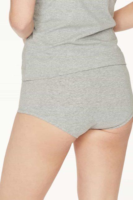 Thought kalhotky s nohavičkou z bio bavlny leah šedé