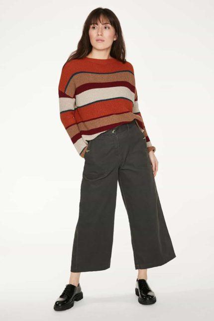 Thought manšestrové kalhoty hiram z bio bavlny