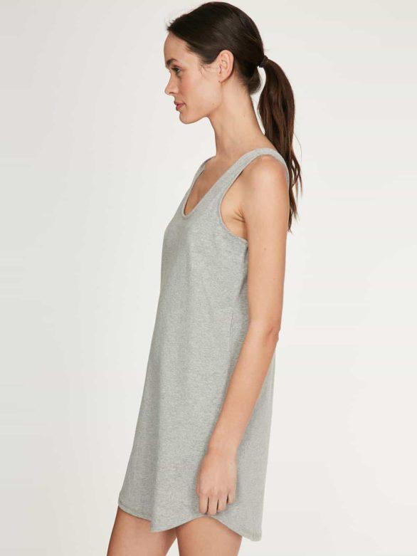 Thought noční košilka z bio bavlny leah šedá