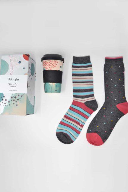 Thought dárkové balení hrníčku a dámských ponožek arrah